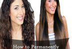 how-to-permanently-straighten-hair-at-home