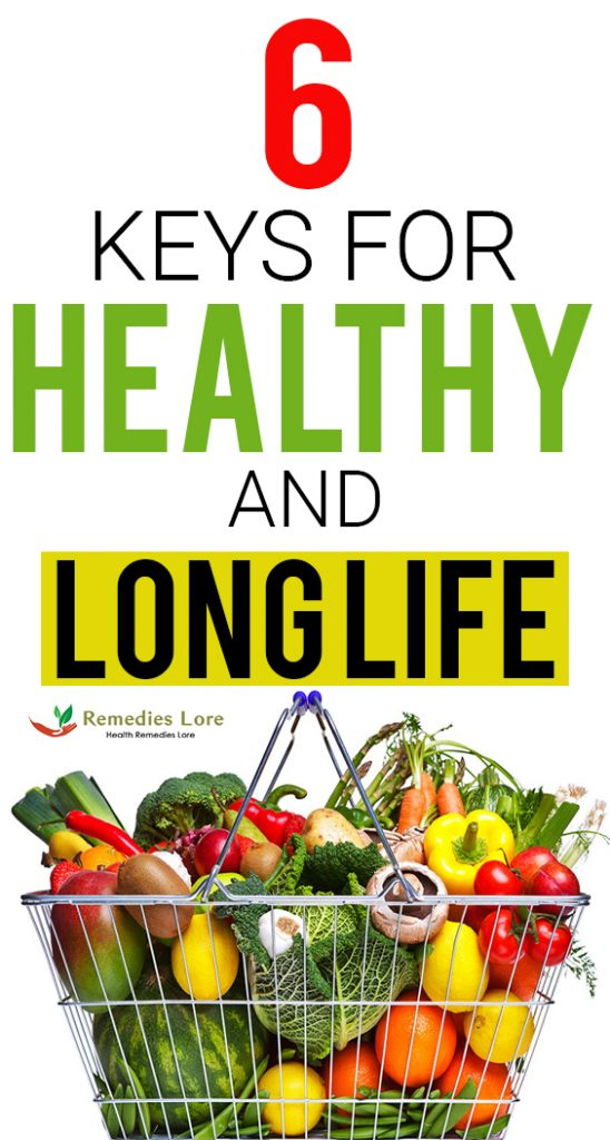 Keys For Healthy and Long Life